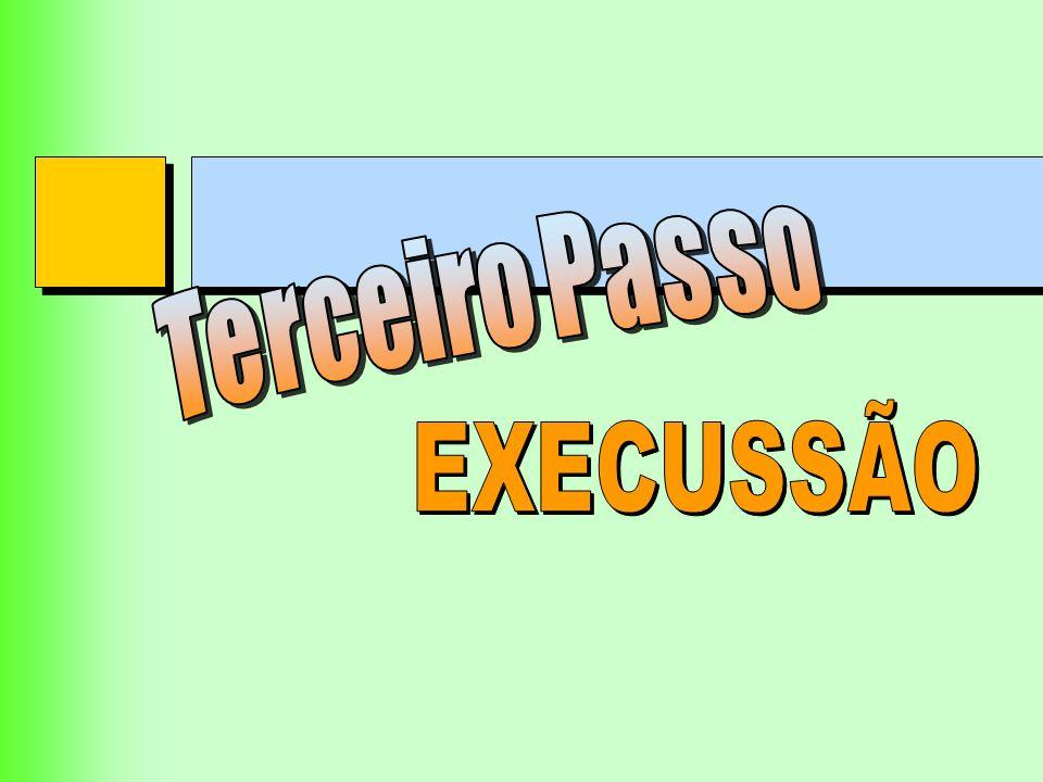 Terceiro Passo EXECUSSÃO