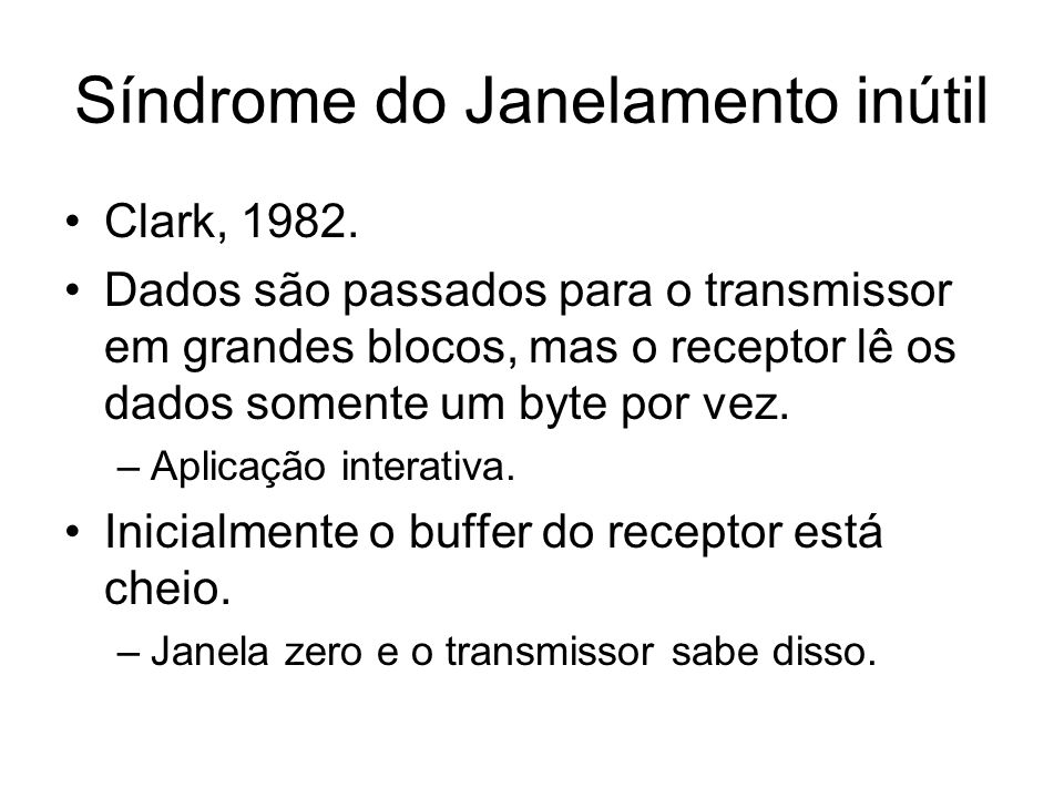 Síndrome do Janelamento inútil