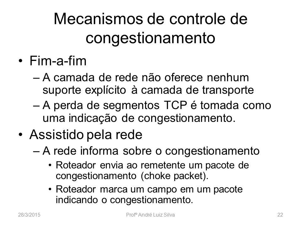 Mecanismos de controle de congestionamento