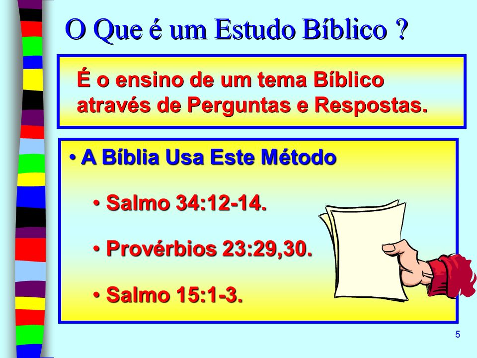 O Que é um Estudo Bíblico