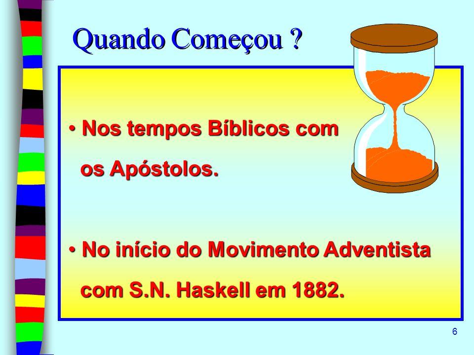 Quando Começou Nos tempos Bíblicos com os Apóstolos.