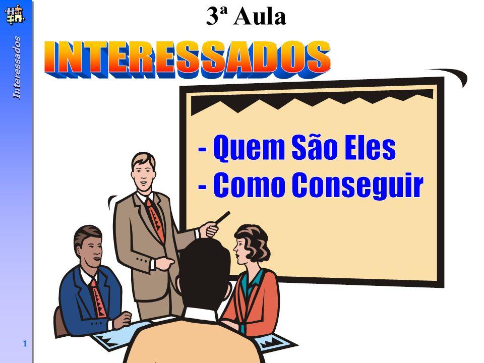 3ª Aula INTERESSADOS Interessados - Quem São Eles - Como Conseguir