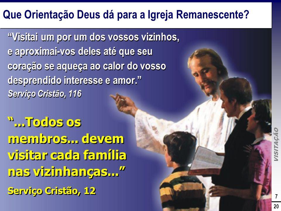 Que Orientação Deus dá para a Igreja Remanescente