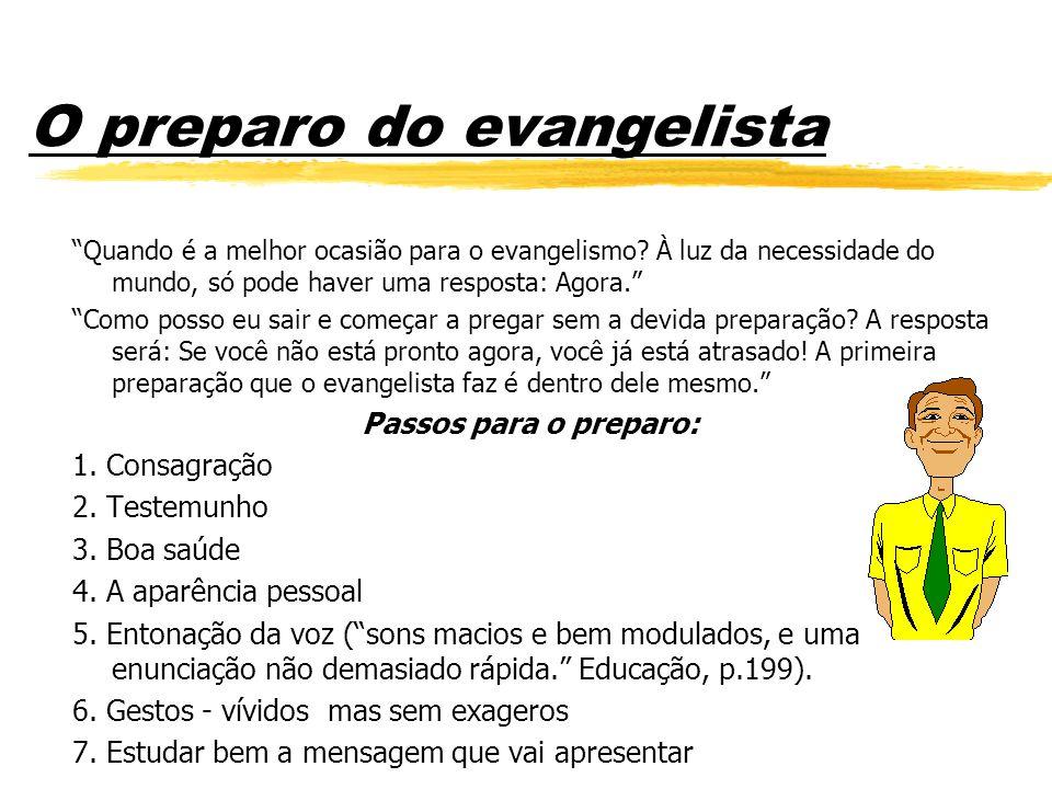 O preparo do evangelista