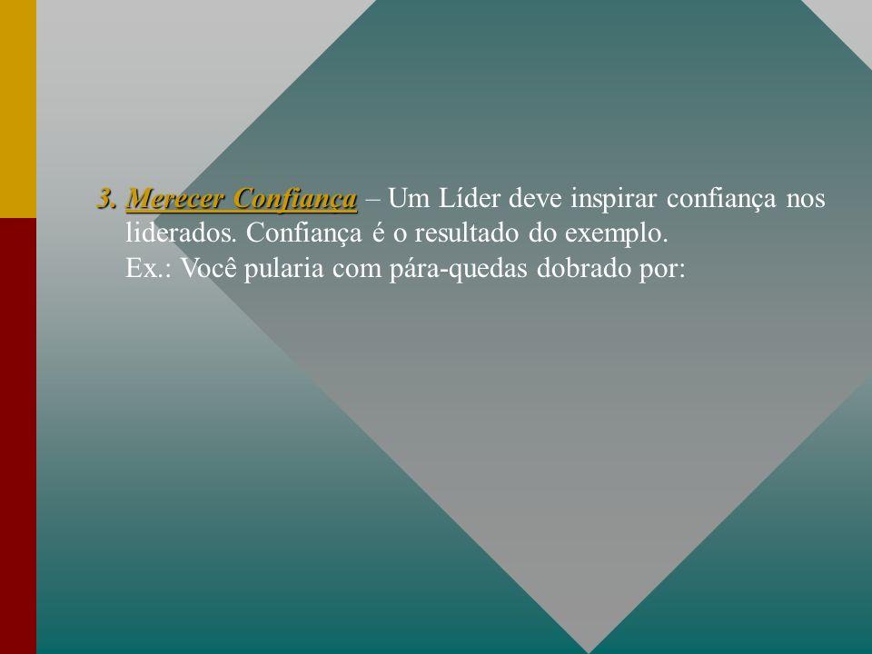3. Merecer Confiança – Um Líder deve inspirar confiança nos