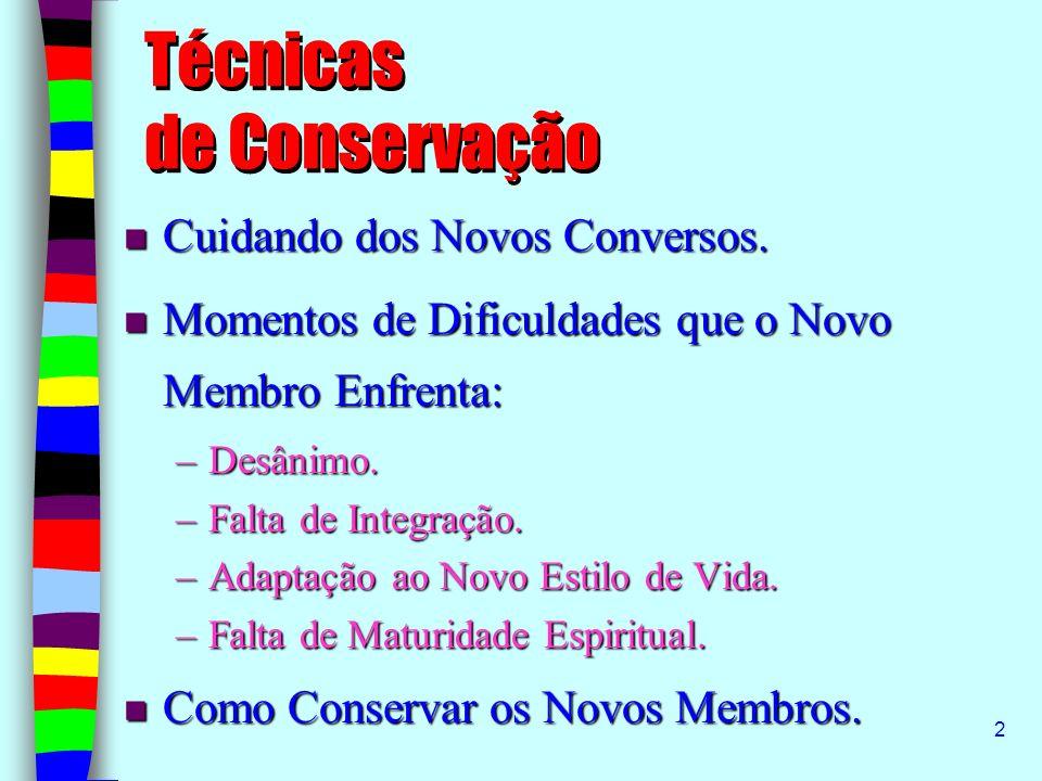 Técnicas de Conservação