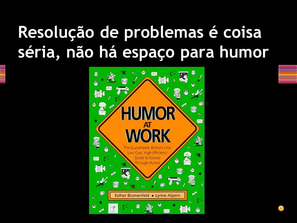 Resolução de problemas é coisa séria, não há espaço para humor