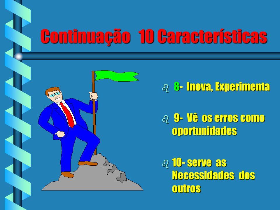 Continuação 10 Características