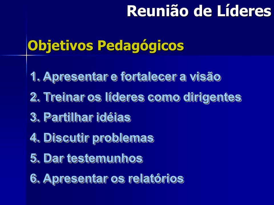 Reunião de Líderes Objetivos Pedagógicos