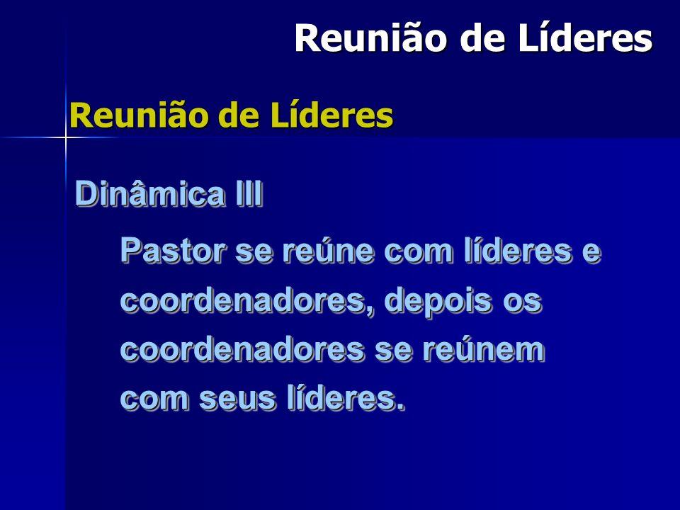 Reunião de Líderes Reunião de Líderes Dinâmica III