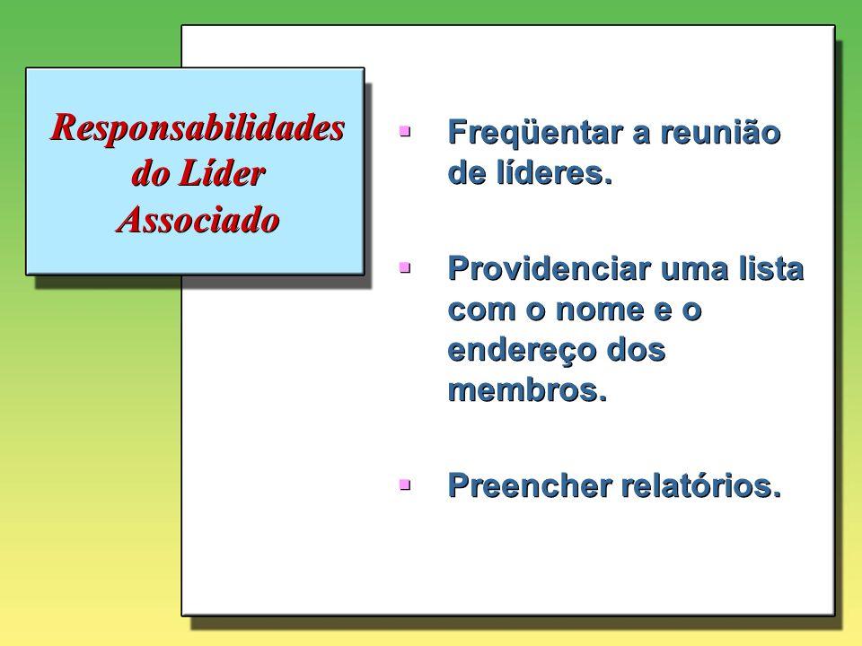 Responsabilidades do Líder Associado