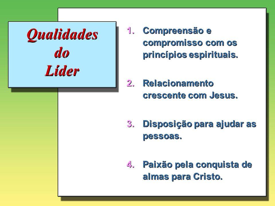 Compreensão e compromisso com os princípios espirituais.