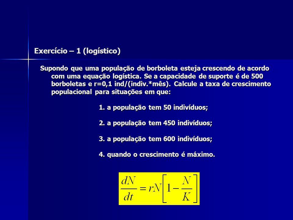 Exercício – 1 (logístico)