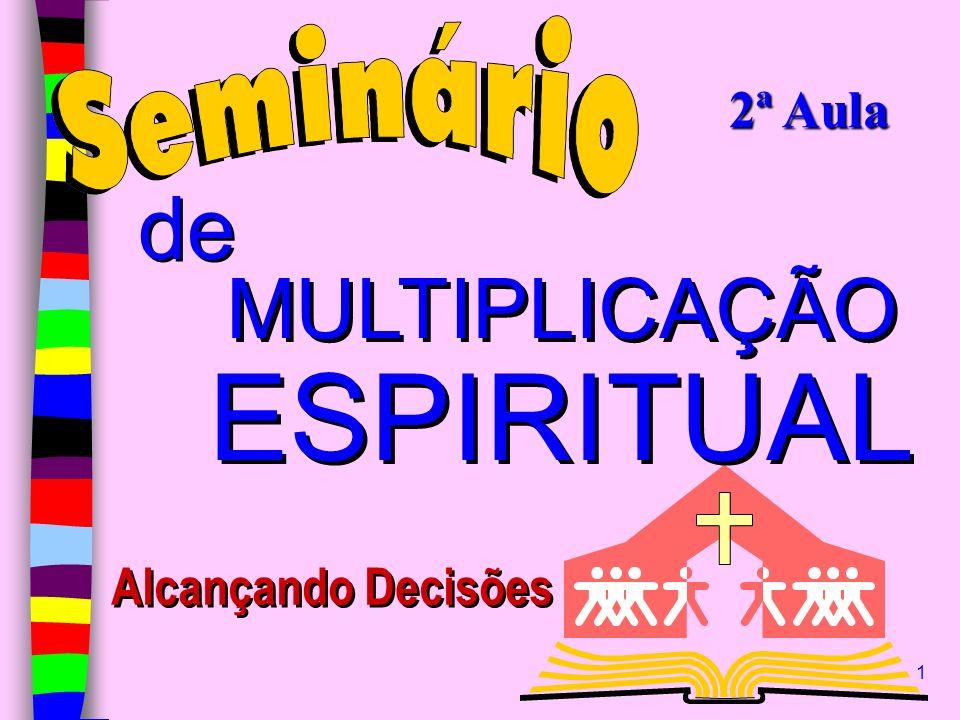 2ª Aula de MULTIPLICAÇÃO ESPIRITUAL Alcançando Decisões