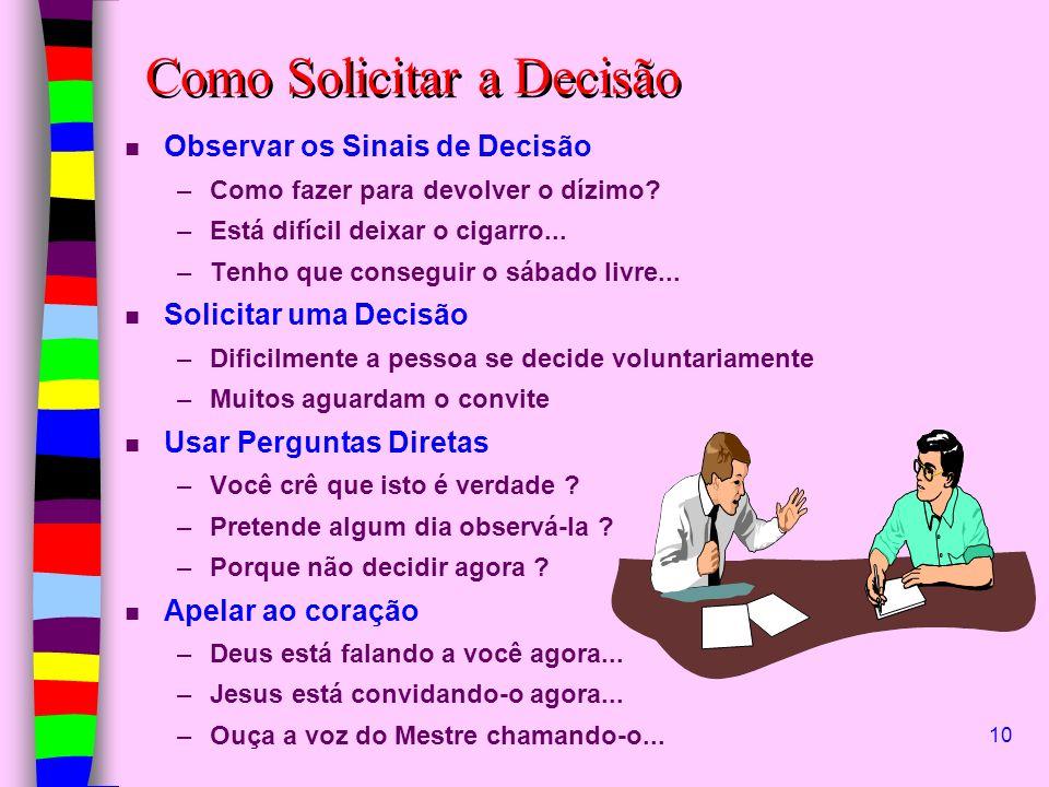 Como Solicitar a Decisão