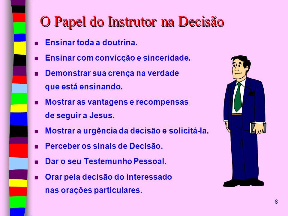 O Papel do Instrutor na Decisão