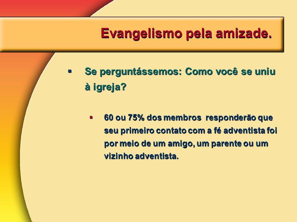 Evangelismo pela amizade.