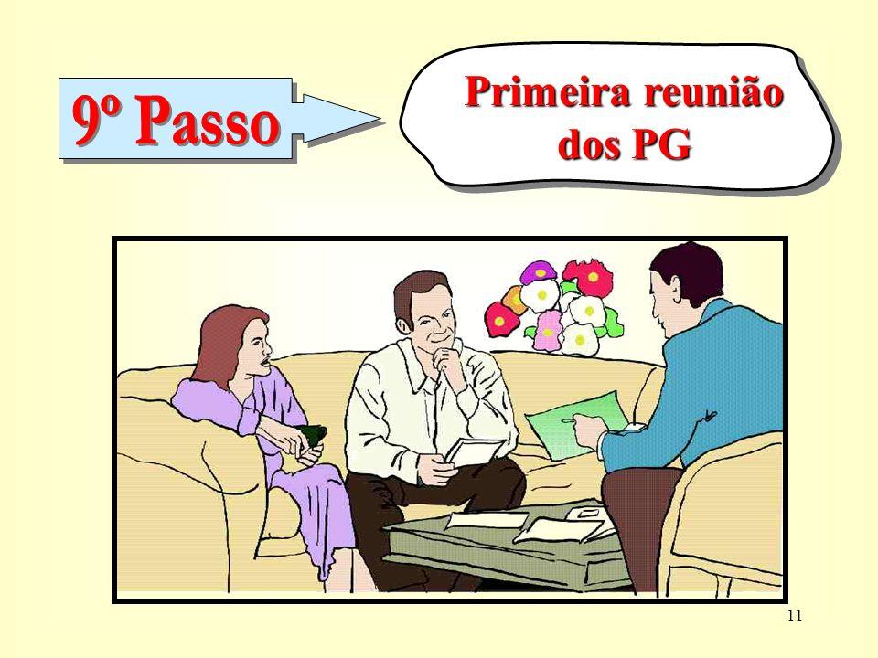 Primeira reunião dos PG 9º Passo