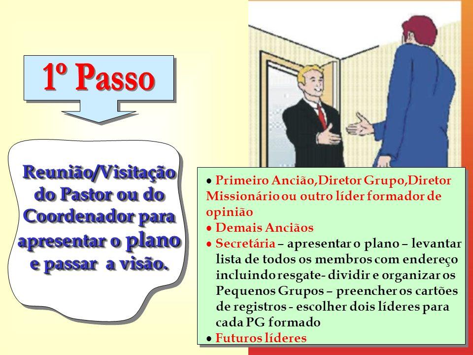 1º Passo Primeiro Ancião,Diretor Grupo,Diretor Missionário ou outro líder formador de opinião.