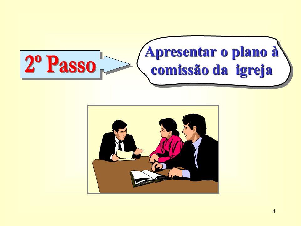 Apresentar o plano à comissão da igreja 2º Passo