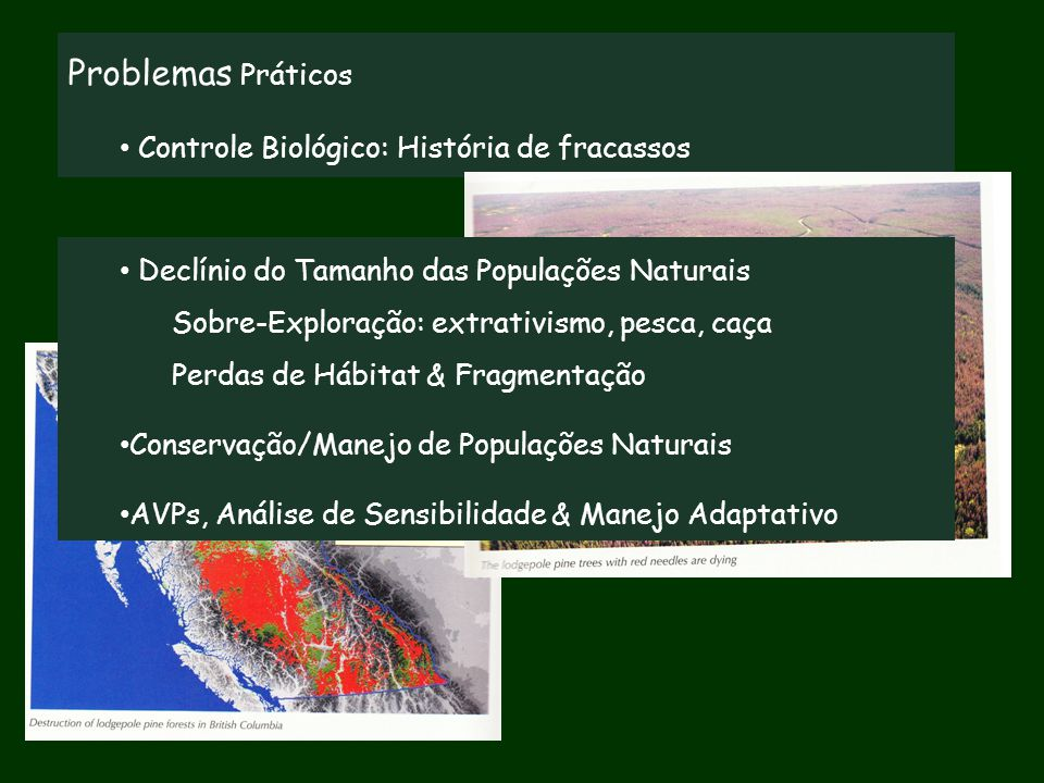 Problemas Práticos Controle Biológico: História de fracassos