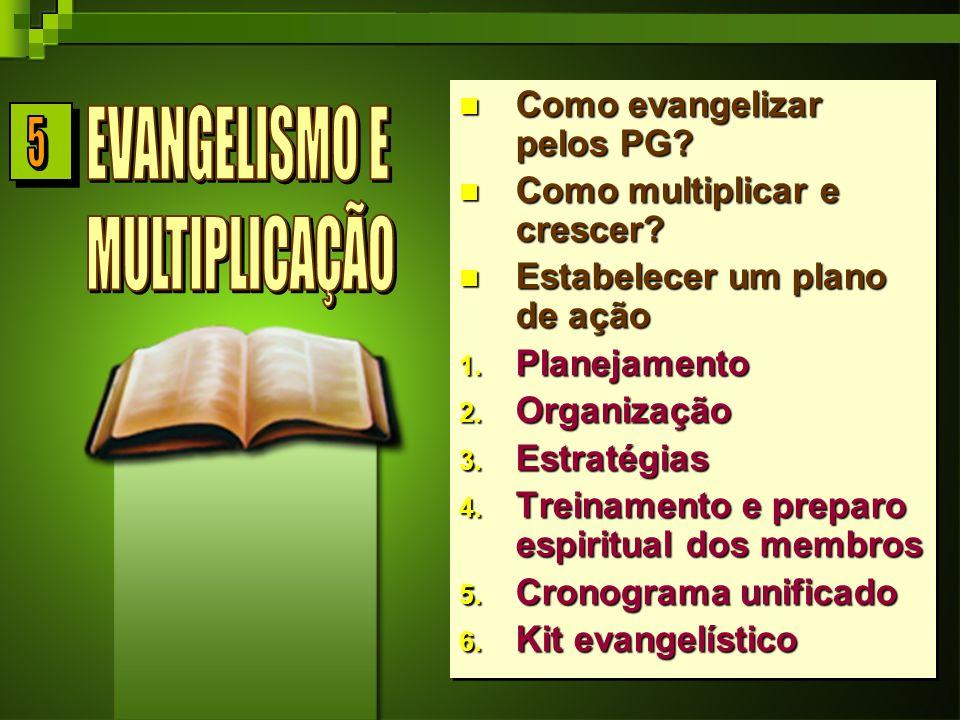 5 EVANGELISMO E MULTIPLICAÇÃO Como evangelizar pelos PG