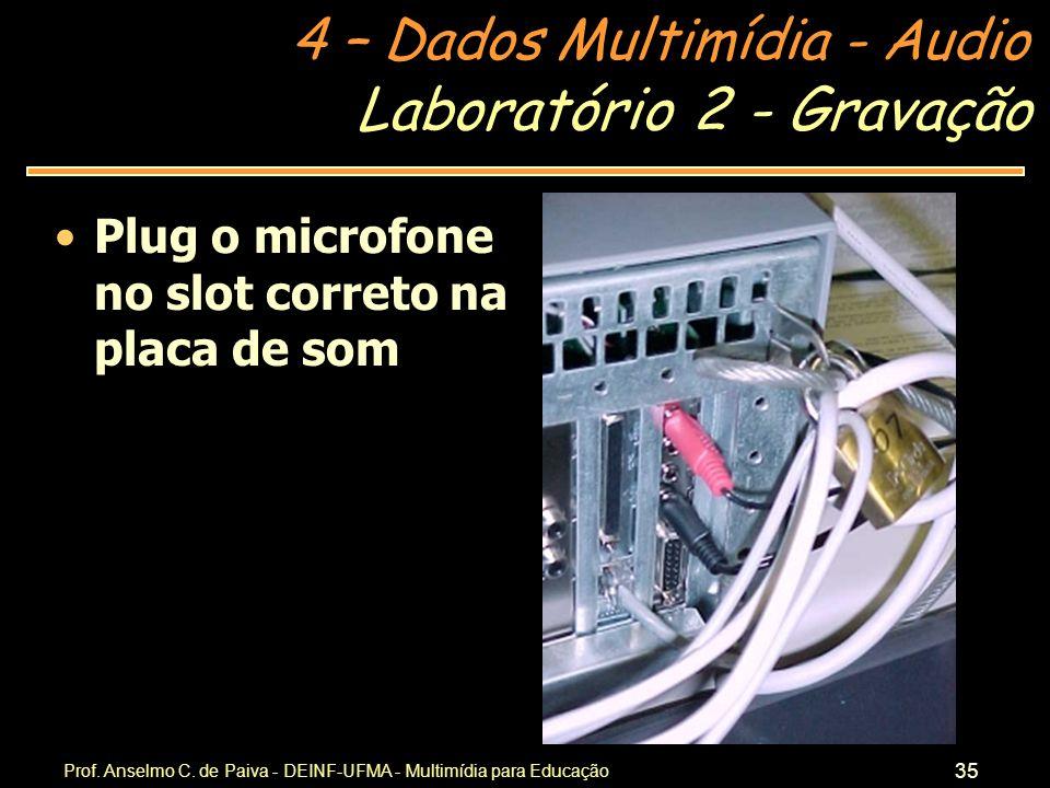 Laboratório 2 - Gravação