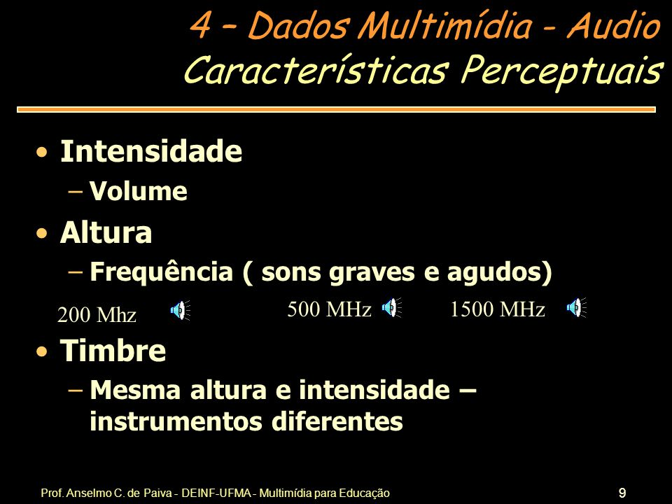 Características Perceptuais