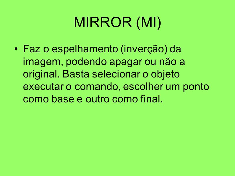 MIRROR (MI)