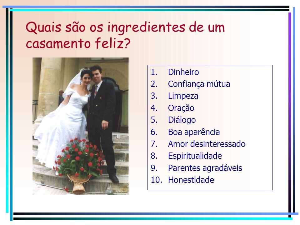 Quais são os ingredientes de um casamento feliz