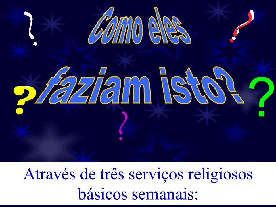 Através de três serviços religiosos básicos semanais: