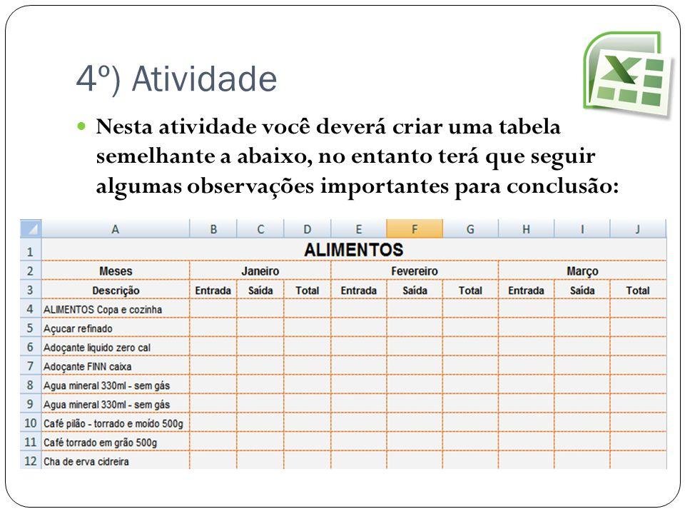 4º) Atividade