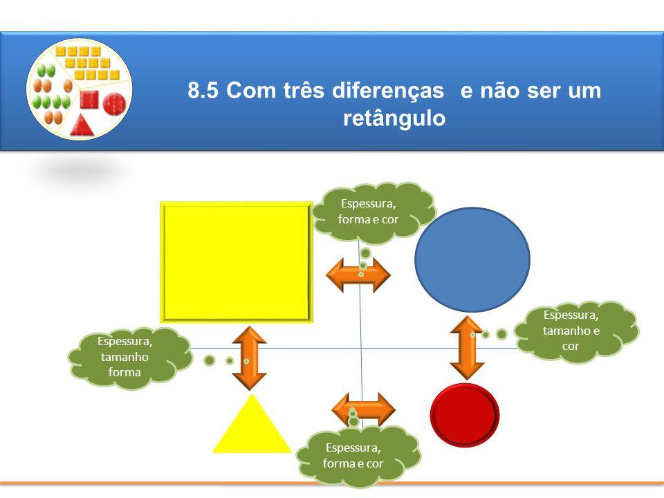 8.5 Com três diferenças e não ser um retângulo