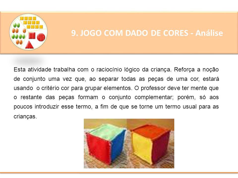 9. JOGO COM DADO DE CORES - Análise