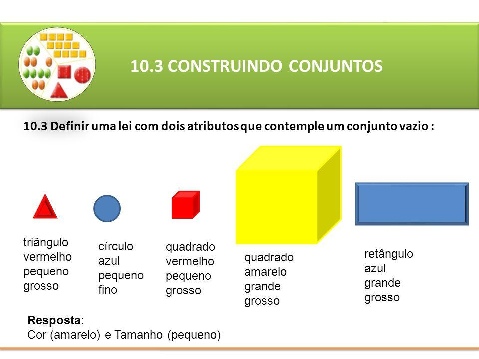 10.3 CONSTRUINDO CONJUNTOS