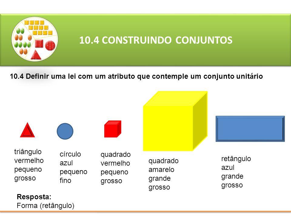 10.4 CONSTRUINDO CONJUNTOS