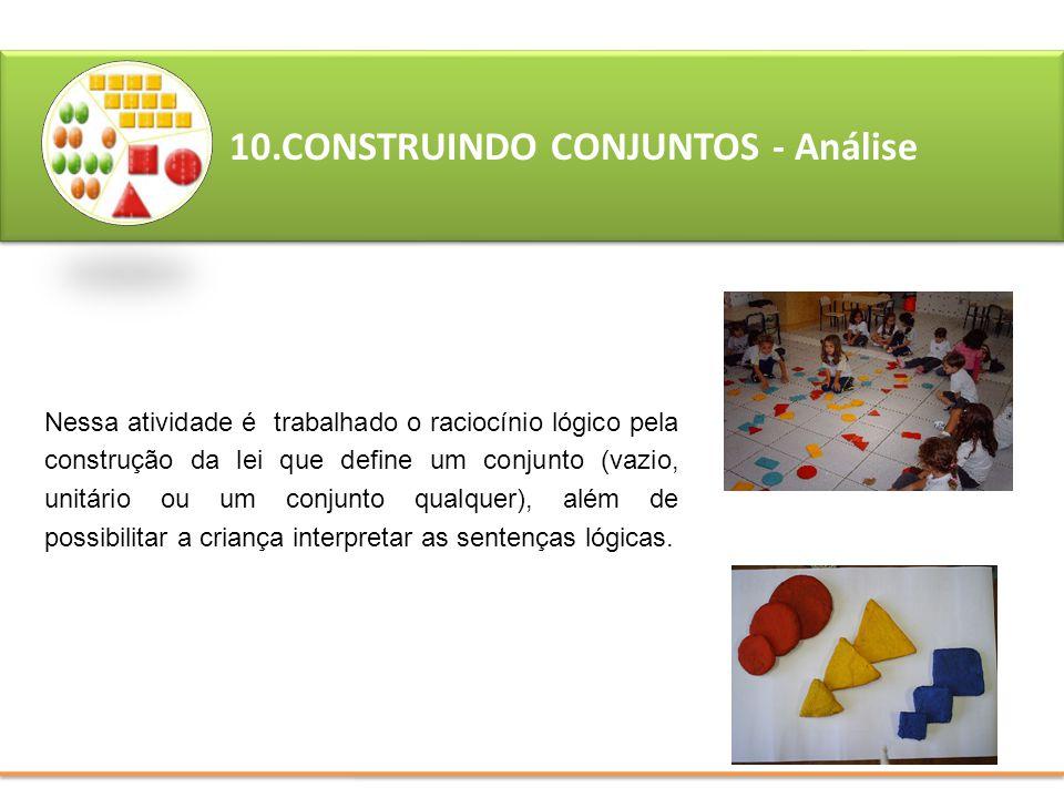 10.CONSTRUINDO CONJUNTOS - Análise