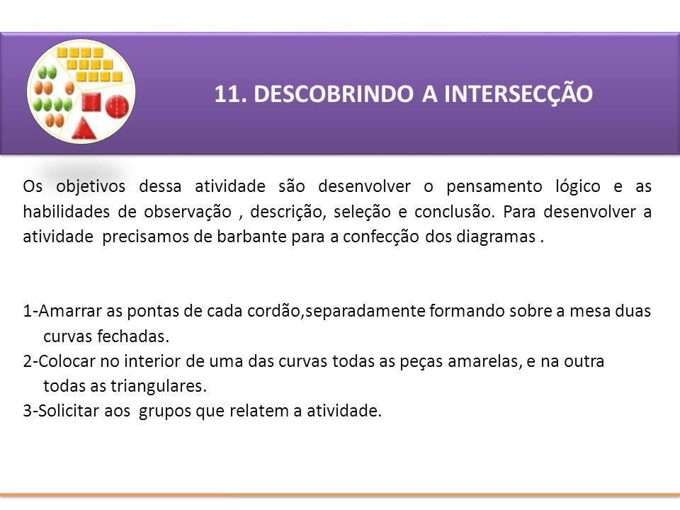 11. DESCOBRINDO A INTERSECÇÃO