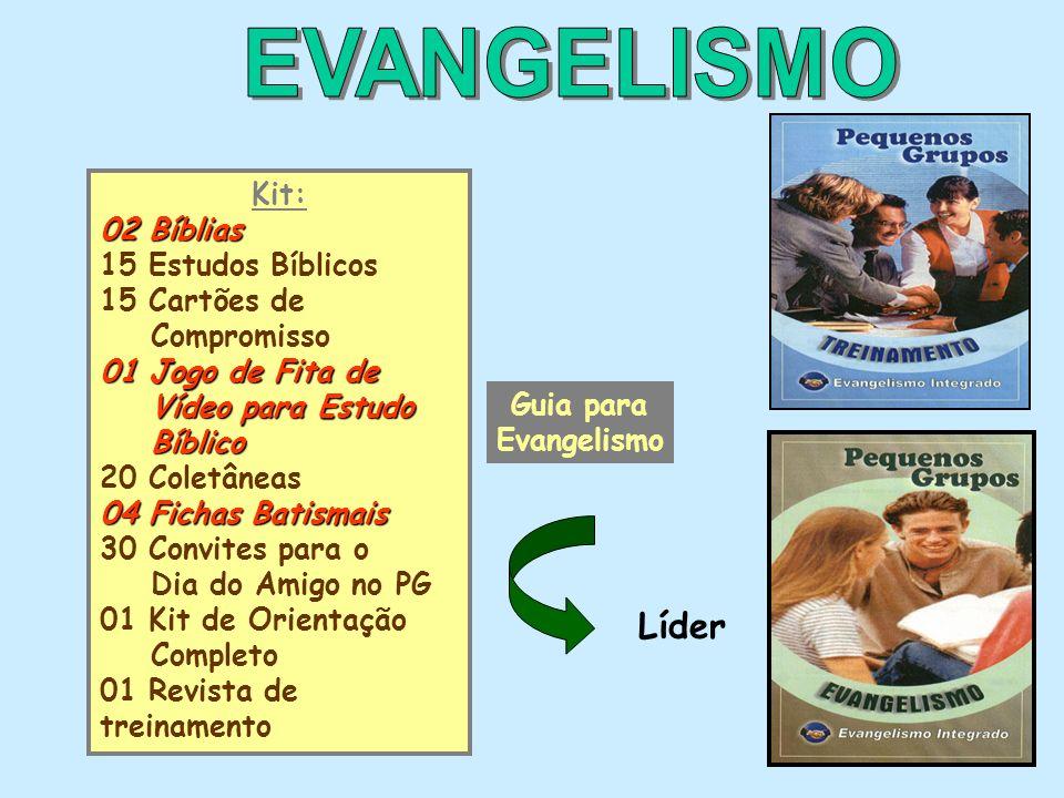 EVANGELISMO Líder Kit: 02 Bíblias 15 Estudos Bíblicos 15 Cartões de