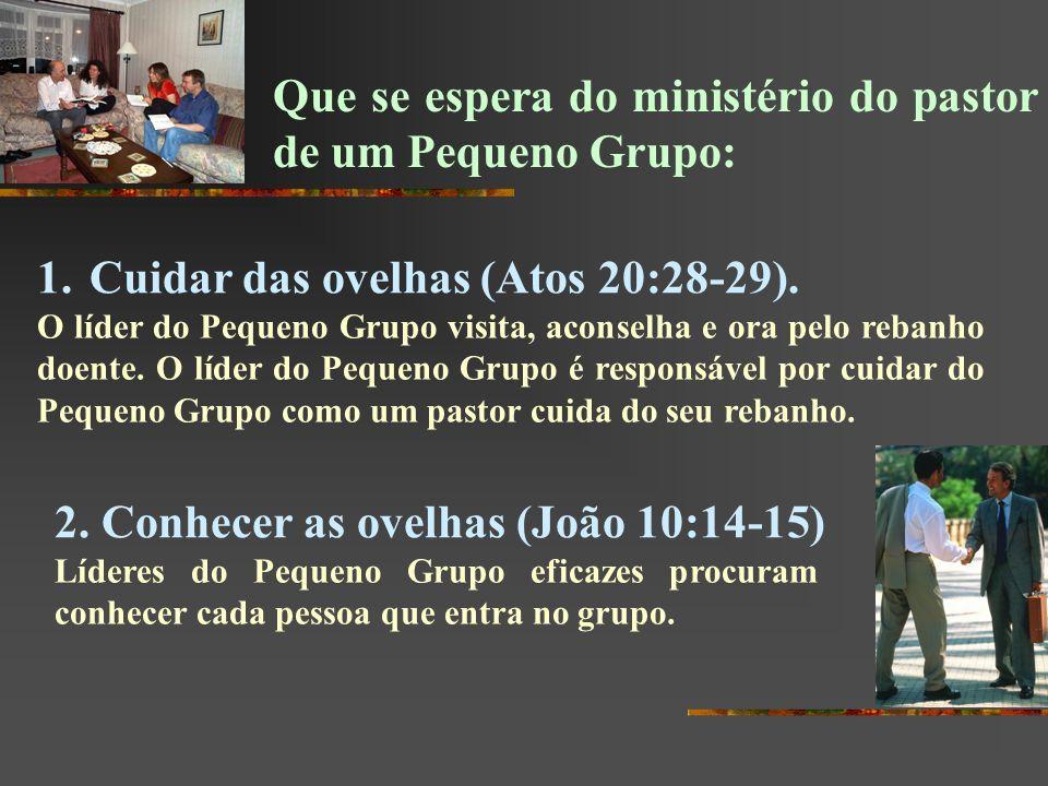 Que se espera do ministério do pastor de um Pequeno Grupo: