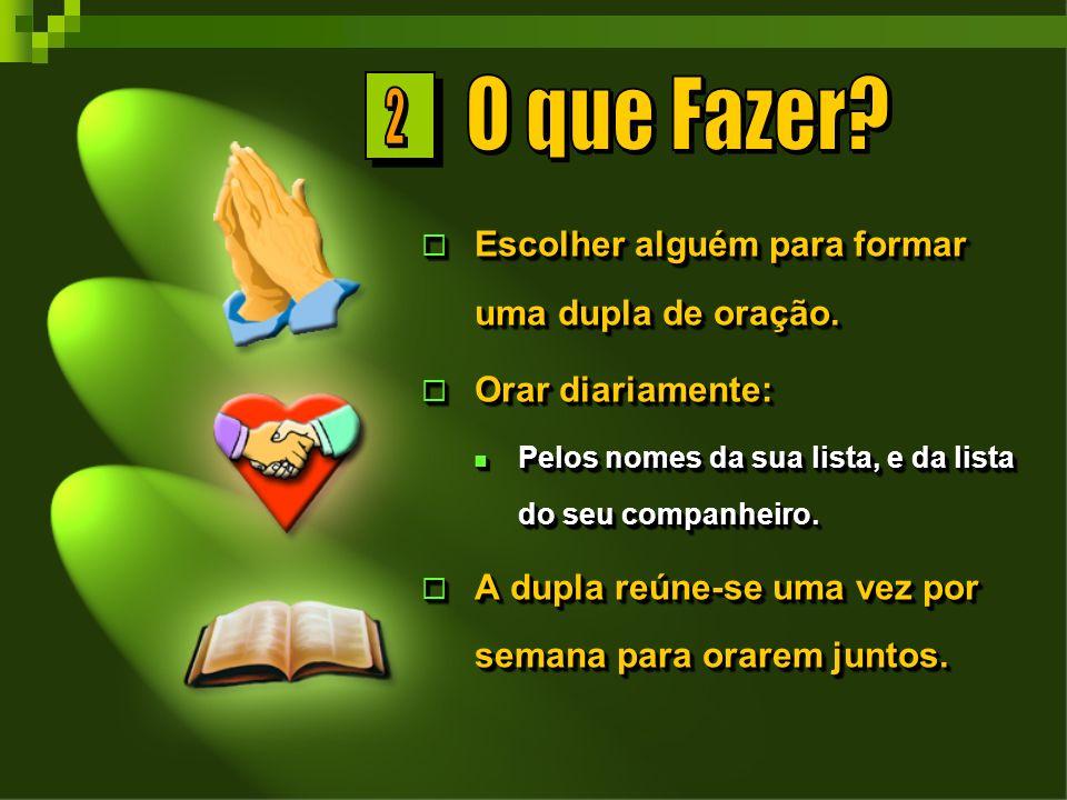 O que Fazer 2 Escolher alguém para formar uma dupla de oração.