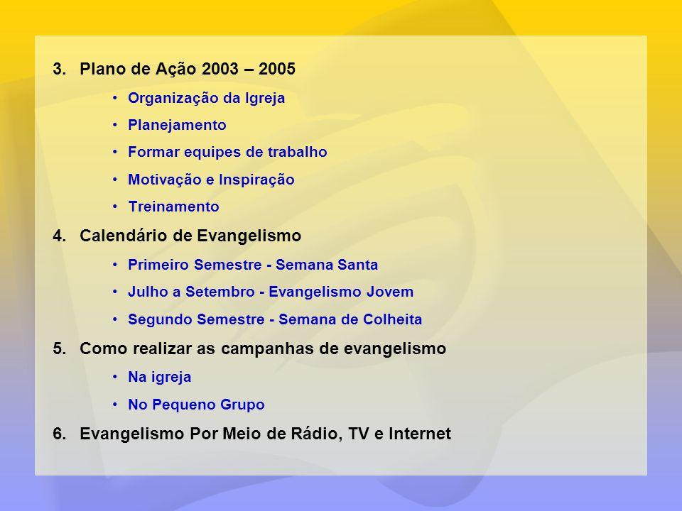 Calendário de Evangelismo