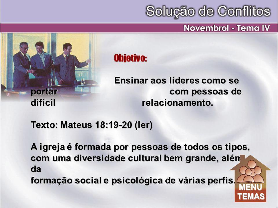 formação social e psicológica de várias perfis.