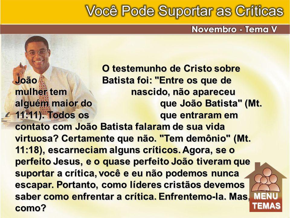 O testemunho de Cristo sobre João