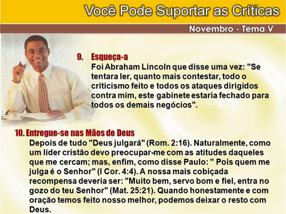 10. Entregue-se nas Mãos de Deus