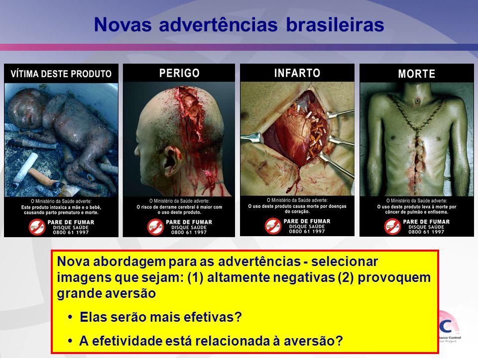 Novas advertências brasileiras