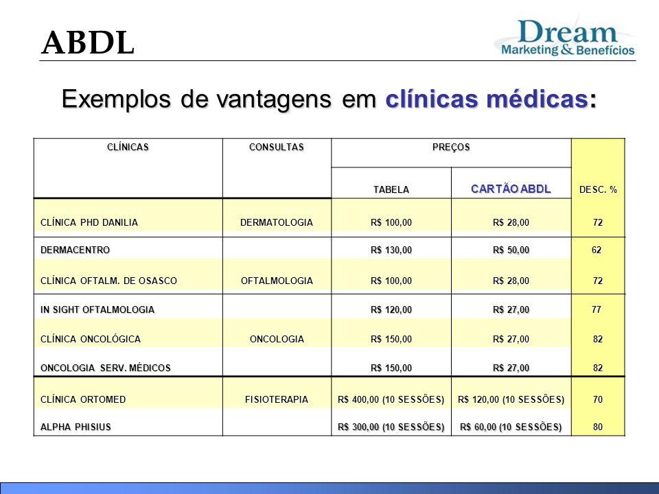 Exemplos de vantagens em clínicas médicas: