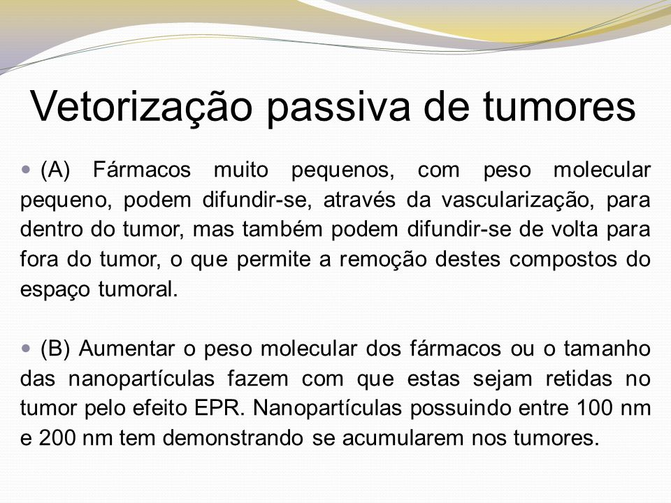 Vetorização passiva de tumores