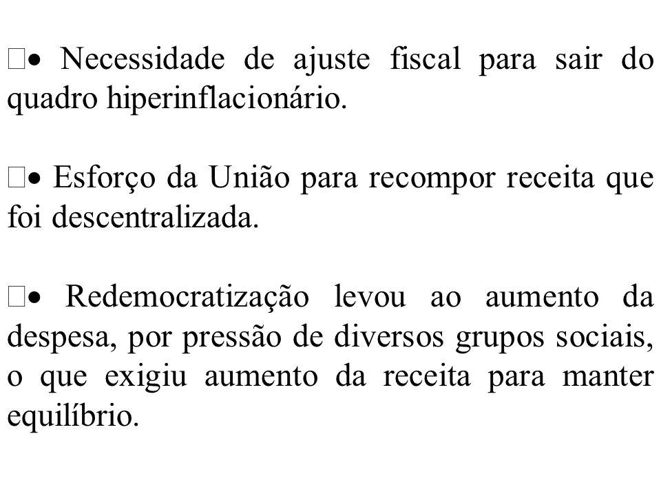 · Necessidade de ajuste fiscal para sair do quadro hiperinflacionário.