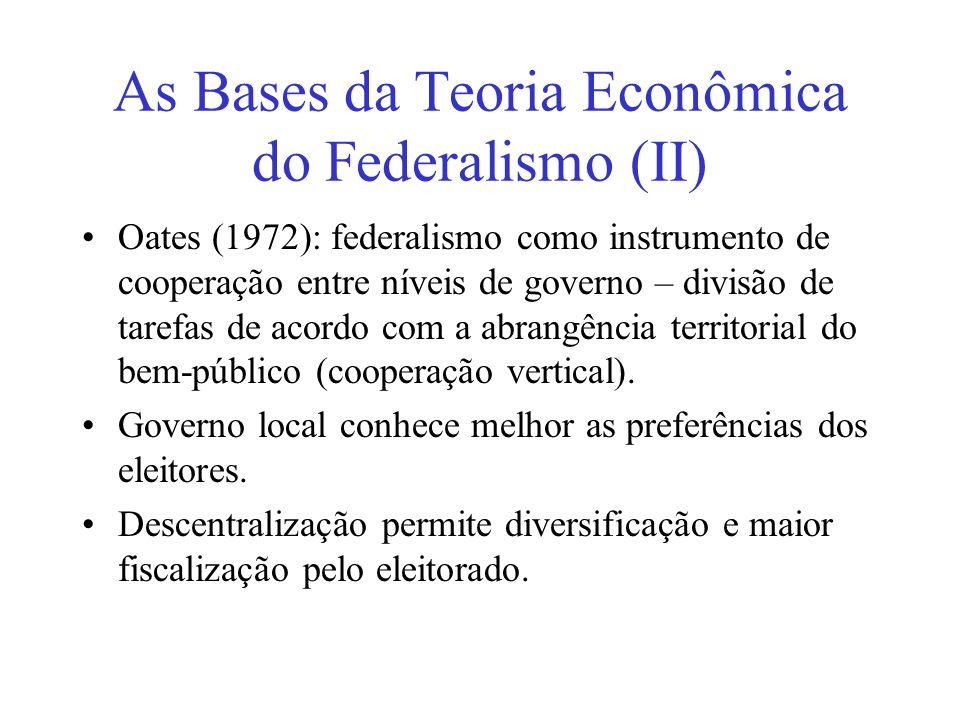As Bases da Teoria Econômica do Federalismo (II)